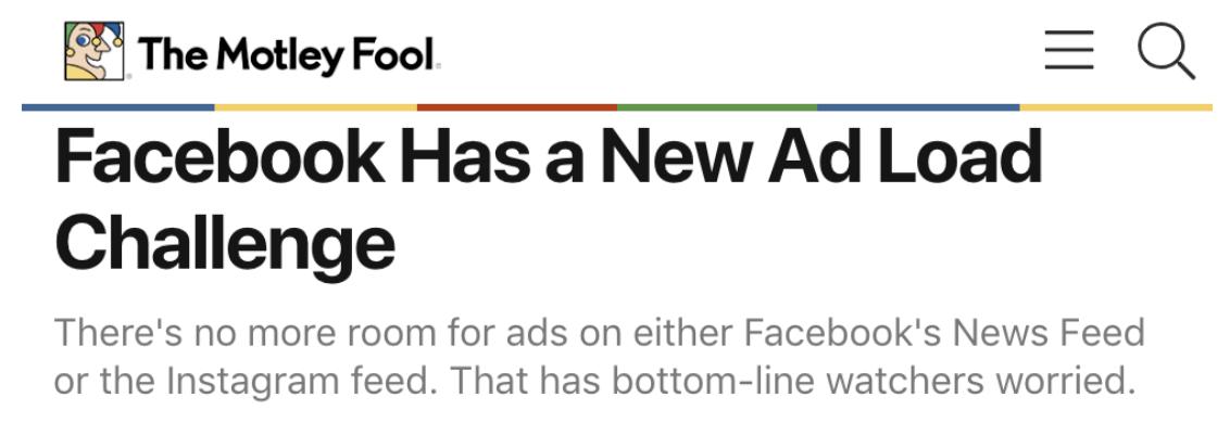 instagram peak ad load 2019 motley fool